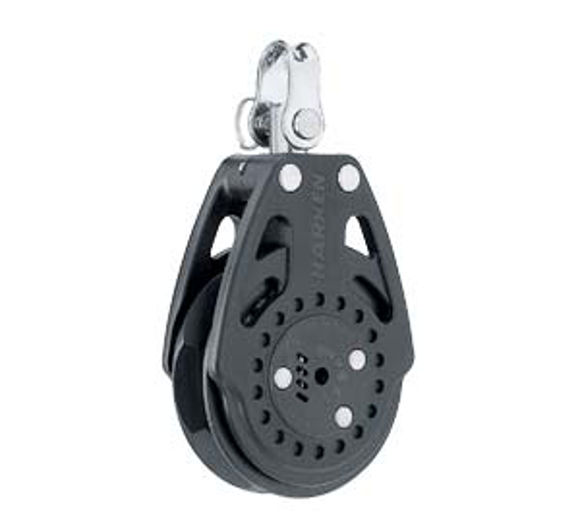 Harken 57mm Carbo Ratchamatic Block mit Wirbel